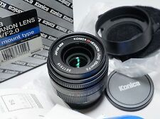Konica M-Hexanon 35/2 Lens in Box CLA for Hexar RF Leica M Camera