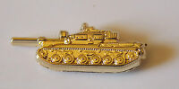 CENTURION TANK GOLD PLATED LAPEL BADGE 25MM WIDE WITH 1 PIN ON REVERSE ARMOUR