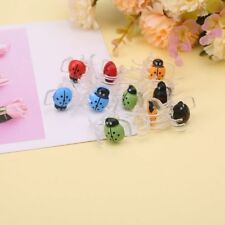 10x Cute Ladybug Orchid Clips Plant Stem Stalks Vines Grow Upright Support Clips
