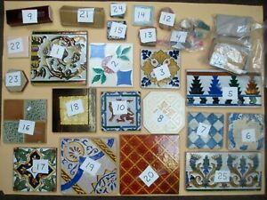 Vintage & Antique Collectible Decorative Ceramic Art Tiles & Tile Shards
