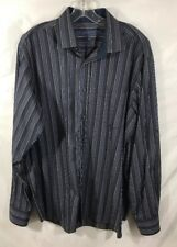 MENS TAILORBYRD Striped  MENS DRESS Long Sleeves SHIRT Size XXL