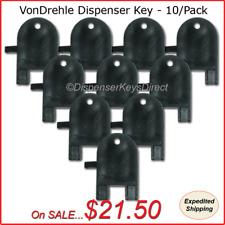 VonDrehle Dispenser Key for Paper Towel & Toilet Tissue Dispensers - (10/pk.)