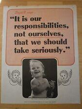 Vintage 60's Motivational Poster Responsibilities National Research Bureau