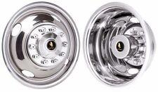 """16"""" 10 lug 4 hole  Ford f53 f450 Wheel simulators Rv motorhome bolt on stainless"""