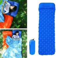 Inflatable Air Mattress Outdoor Tent Mats Camping Travel Sleeping Portable- T6G7