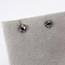 Wert 310 € Solitär schwarzer Diamant Ohrstecker (0,50 Carat) in 900er Platin