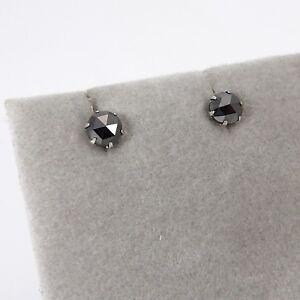 Wert 310 € Solitär schwarzer Diamant Ohrstecker Ohrringe 0,50 Ct in 900er Platin
