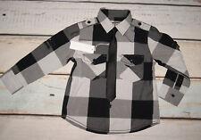 Rocha John Rocha BNWT Boys Checked Shirt & Black Tie Outfit Set Age 4 Years