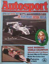 AUTOSPORT magazine 30 September 1982 Vol 88, Issue 13
