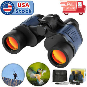 USA 60X60 Zoom Binoculars Day/Night Vision Travel Outdoor HD Hunting Telescope