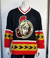 Men 2000 - 01 Vintage CCM Ottawa Senators Jersey Metallic Trim Real Crest sz Med