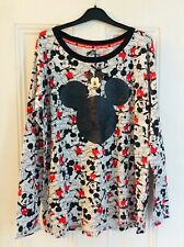 New ladies Disney Mickey Mouse loungewear top, size 12-14