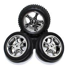 Traxxas Bandit Front Rear Alias All Star Wheels Rims Tires Chrome VXL XL5