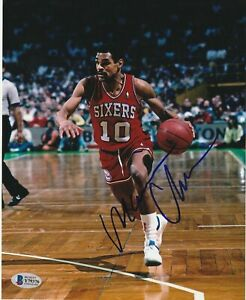 MAURICE CHEEKS Signed Philadelphia SIXERS 8x10 PHOTO w/ Beckett COA