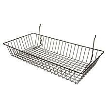 "Only Hangers 24"" x 12"" x 4"" Basket for Gridwall/Slatwall/Pegboar d - Black"