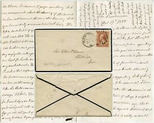 USA 1885 LONG LETTER to MRS CHARLES ADAMS STOCKBRIDGE MASS from WINDERMERE NY