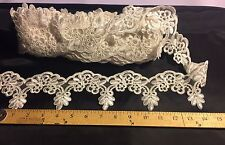 Ivory French Corded Trim Design-wedding-bridal-3 Inches Tall-sold By the Yard.