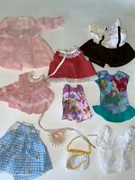 Vintage DOLL CLOTHES Modern Current LOT of 10 Pieces Dresses Mixed LOT