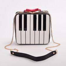 Crossbody Bag Women's Cute Piano Bowknot Style Mini Shoulder Bag Handbag