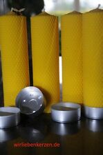 4x Velas Cera de abeja XXL 100% 210 x 56mm hecho a mano AUS D