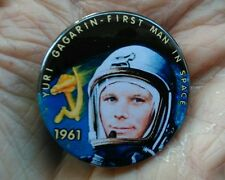 Yuri Gagarin - First man in Space 1961. 🚀 38mm pin badge