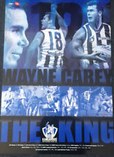 WAYNE CAREY 'THE KING' NORTH MELBOURNE KANGAROOS CAREER AFL POSTER