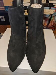 Corso Como Drianna Suede Ankle Bootie Size 7 1/2 Color Black