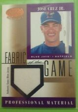 Jose Cruz 2001 Leaf Certified Materials Fabric of the Game FG-115 Jersey Card