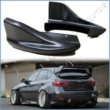 For 2008-2014 Subaru STI WRX CS Type Carbon Fiber Rear Side Bumper Splitter Set