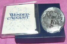 Wendell August Forge Ornament Noah's Ark Hammered Hand Wrought Aluminum MIB