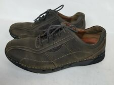 Clark's Structured Lace Up Brown Leather oxford Shoes Size 9.5M