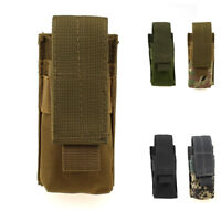 Tactical Molle Magazine Pouch Flashlight Holder Nylon Mag Bag Hunting Pack