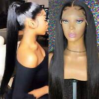 Fashion Long Straight 360 Lace Frontal Wigs 100% Indian Remy Human Hair Wigs C1K