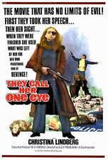THEY CALL HER ONE EYE Movie POSTER 27x40 Christina Lindberg Heinz Hopf Despina