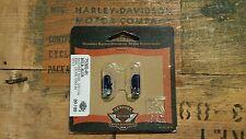 Harley Davidson Blue Bayonet Base Light Bulbs 12V .17A 75202-01 NOS OEM 2 PACK