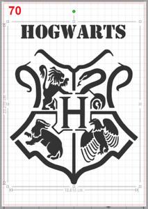 Harry Potter Hogwarts Emblem Stencil MYLAR A4 sheet strong reusable Art Craft