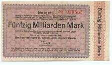 Werdau - Inflation 1923 - 50 Millarden Mark