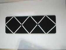 French Bulletin Board Photo Memo Board Black with white ribbon 8 x 24