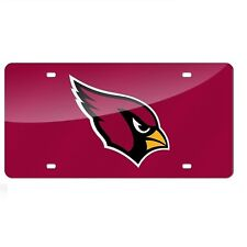 Arizona Cardinals Red Mirrored Laser Cut License Plate Laser Tag
