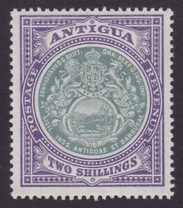 Antigua. SG 38, 2/- grey-green & pale violet. Fine mounted mint.