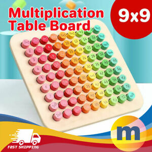 Montessori Learning Educational Toy Multiplication Wooden Table Mathematics Game