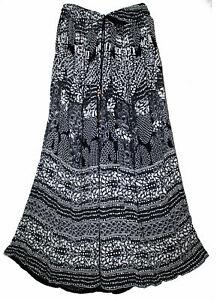 Indian Rayon Crinkle Skirt Ladies 8 Size Waist Long Dress Women Bodycon Uk 2111
