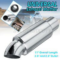 2.5'' Inlet/Outlet Muffler Exhaust Pipe Tip Sound Resonator Tuning Universal