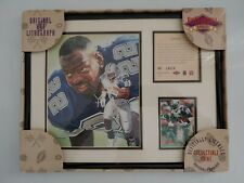 Kelley Russell Sports Original Art Lithograph Emmitt Smith Dallas Cowboys Framed
