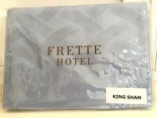 "FRETTE ITALY Hotel Collection KING SHAM RIVIERA BLUE 100% Cotton 21""x37"" NEW"