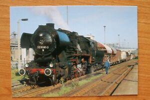 E2) Eisenbahn Zug Niedercunnersdorf 1987 Dampf Güterzuglokomotive 52 8080-5