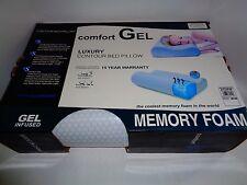 NEW Sensorpedic SensorGel Cool Gel Infused Memory Foam Contour Pillow 21 x 14