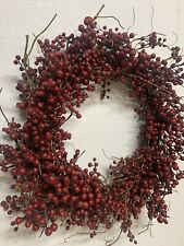 28 Inches Red Berry  Berries Wreath Handmade By Berries Floral Wholesale In TX