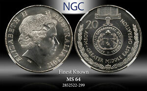 2017 AUSTRALIA 20 CENTS ASOM MID EAST OPERATION NGC MS64 FINEST KNOWN