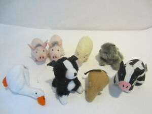 BABE McDonald's Set of 7 Happy Meal Pig Cow Mouse Cat toys